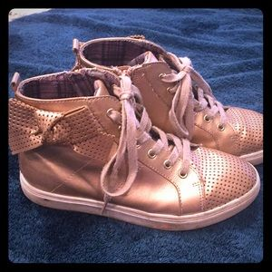 Other - Rose gold bow high tops